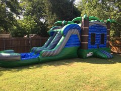 PREMIUM Wet Blue Crush Combo w Dual Laned Slide & Pool