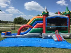 PREMIUM Wet Crazy Color Combo w Dual Laned Slide and Pool