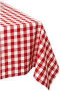 Red/White Checkered Table Clothes 6 ft Lap Length