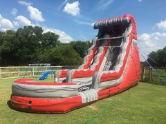Wet 20 ft Liquid Magma Water Slide with Pool