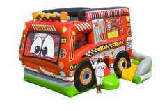 Fire Truck Bounce House Combo (Dry Only)