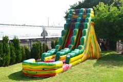 Wet 20 ft Neon Crush Water Slide with Pool