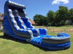 Wet 20 ft Laguna Wave Water Slide with Pool