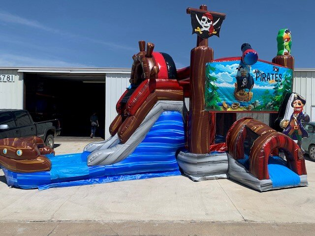 Wet Pirate Ship Combo Bounce House