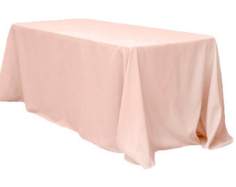 6' Rectangular Table Floor Length Linen