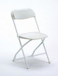 White Folding Chair B Grade