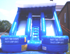 15 ft DOUBLE LANE SLIDE (DRY)