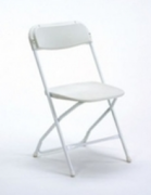 White Folding Chair (Wedding White)