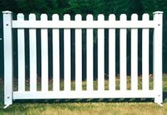 White Fencing per 6 ft panel