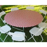5' Round Plastic Table Covers