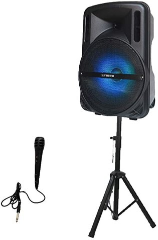 PA Speaker, stands and Microphone Set