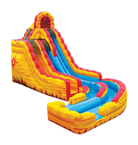 Fire-N-Ice Water slide with landing