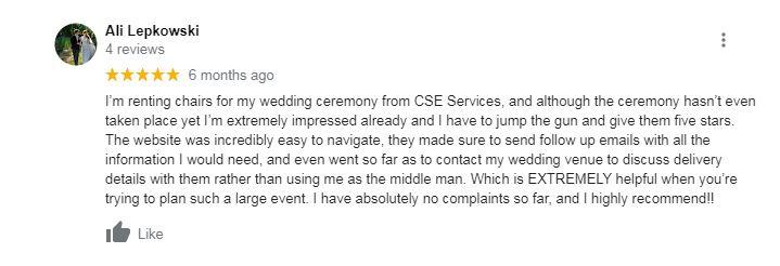 Google Review Screen Shot