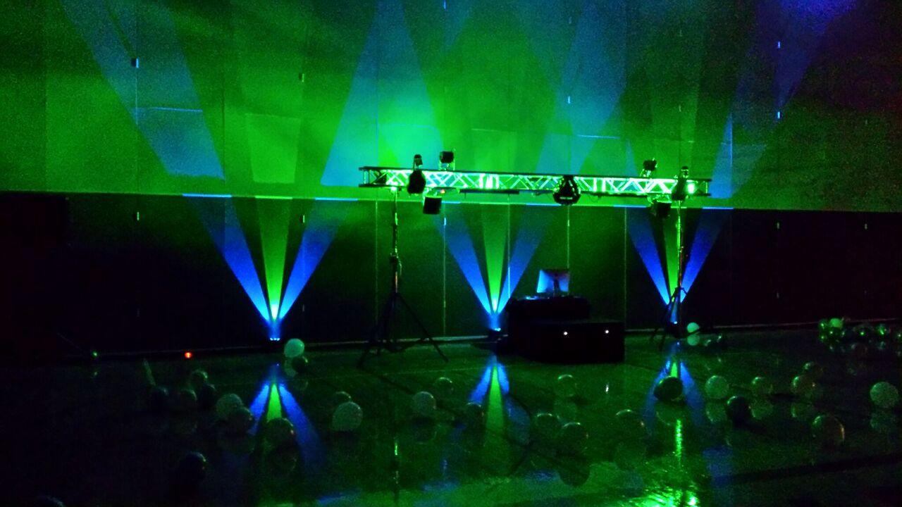 DJ Set Up With Uplighting