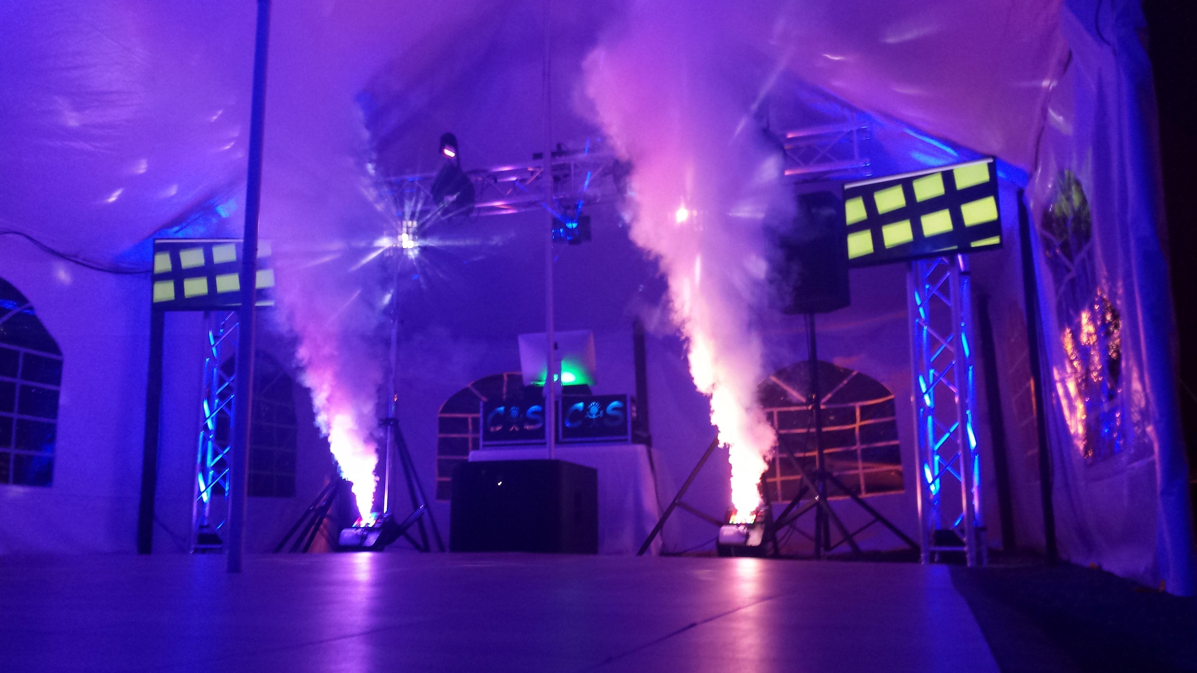 DJ Set Up With Foggers