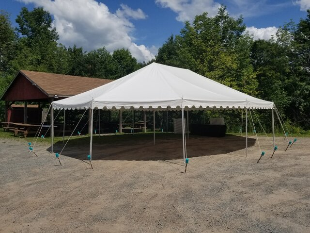 30 x 40 White Oval Pole Tent