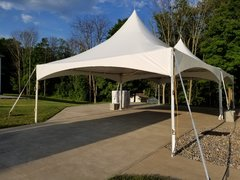 20 x 20 White High Peak Frame Tent