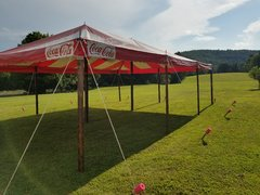 20 x 30 Red & White 'Coca-Cola' Pole Tent
