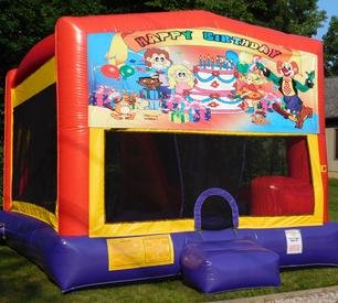 Happy Birthday Party Bounce House Slide Combo