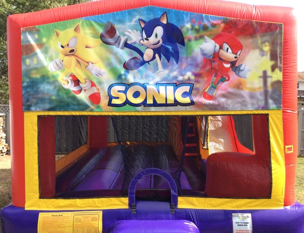 Sonic Bounce House Slide Combo