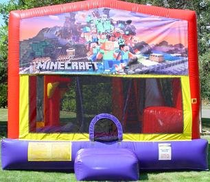 Mindcraft Bounce House Slide Combo