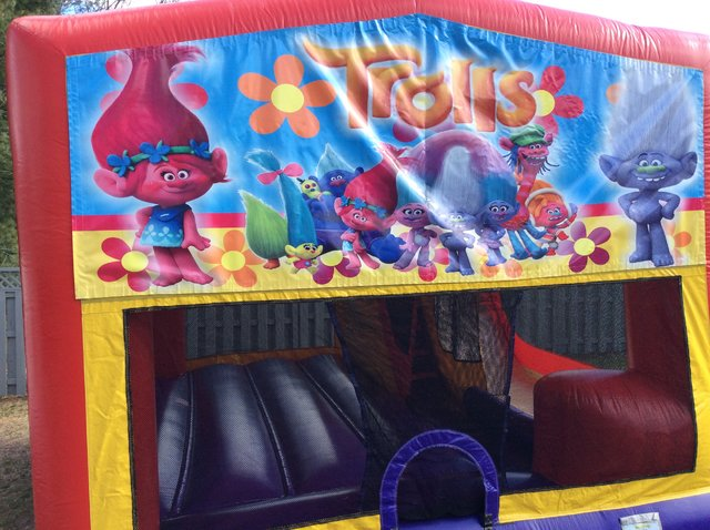Trolls Bounce House Slide Combo