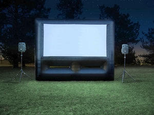 Movie Screen Gold (Movie Equipment, Popcorn & Bounce House)