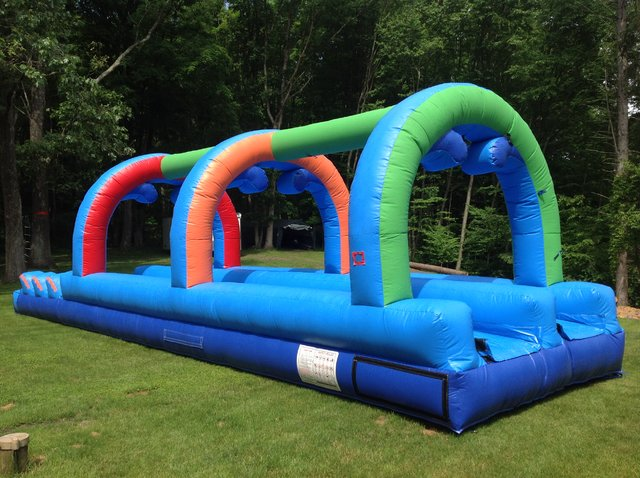 Rainbow Double Lane Slip N Slide