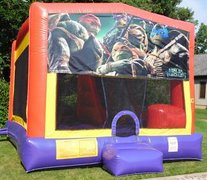 Ninja Turtle Movie Bounce House Slide Combo
