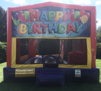 Happy Birthday Balloons Bounce House Slide Combo