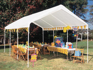 10X20 frame tent only with sand bags $125