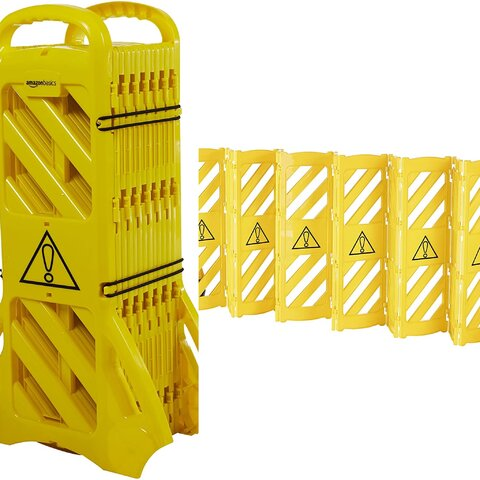 Yellow plastic barrier