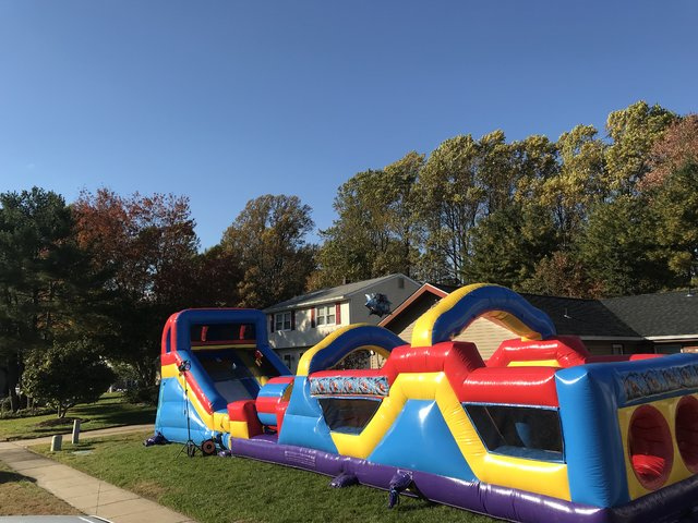 SLIDE AND OBSTACLE COURSE COMBO 45' LONG