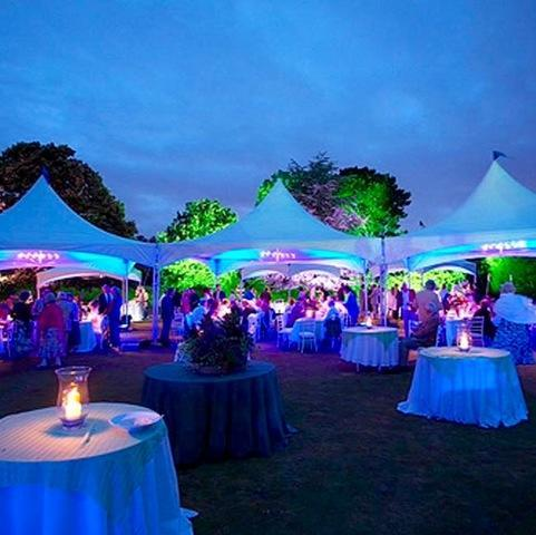 LED LIGHTING PARTY TENT HIGH PEAK TENT -CALL OFFICE
