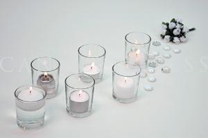 Candle and Clear Glass Votive 2