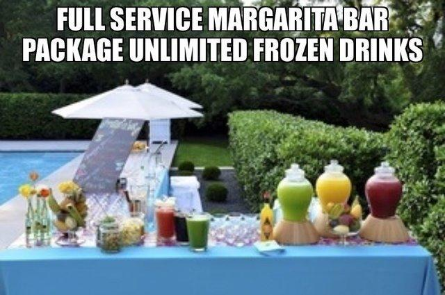 Frozen Drinks Margarita Bar Package $375