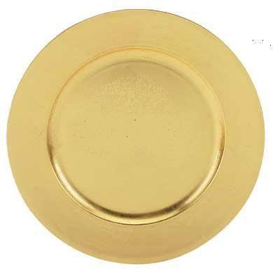 CHARGER PLATE, GOLD PLASTIC 13