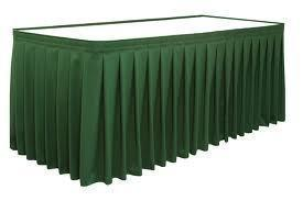 GREEN TABLE SKIRT 13' only