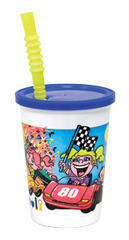 CUP KIDS WITH STRAW & LID SPILL PROOF (10 pack)