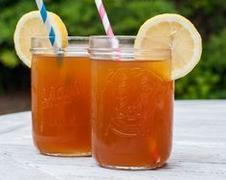 Sweet ice tea frozen