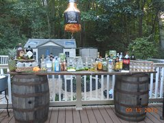 Rustic Wood Bar $125