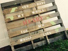 Heart Felt Pallet Decor