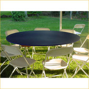 "PLASTIC FITTED TABLE COVERS- 60"" ROUND-ADD COLOR IN COMMENT SECTION"