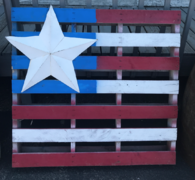 USA Flag Wood Pallet