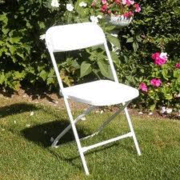 CHAIRS FOLDING WHITE