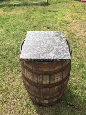Wine Barrel With Granite Slab