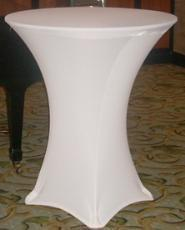 White Spandex LINEN FOR high top table-DPR