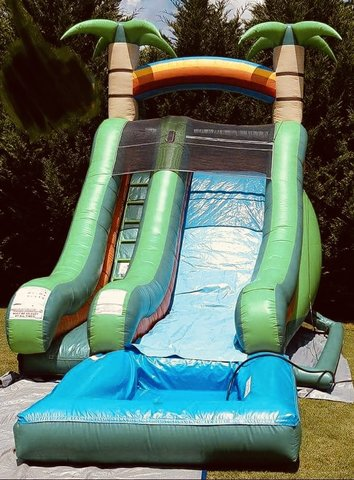 16' Super Splash Down Water Slide w/ Pool