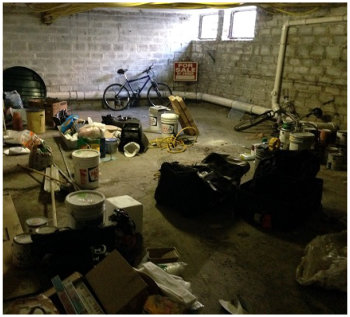 basement cleanup project in Detroit