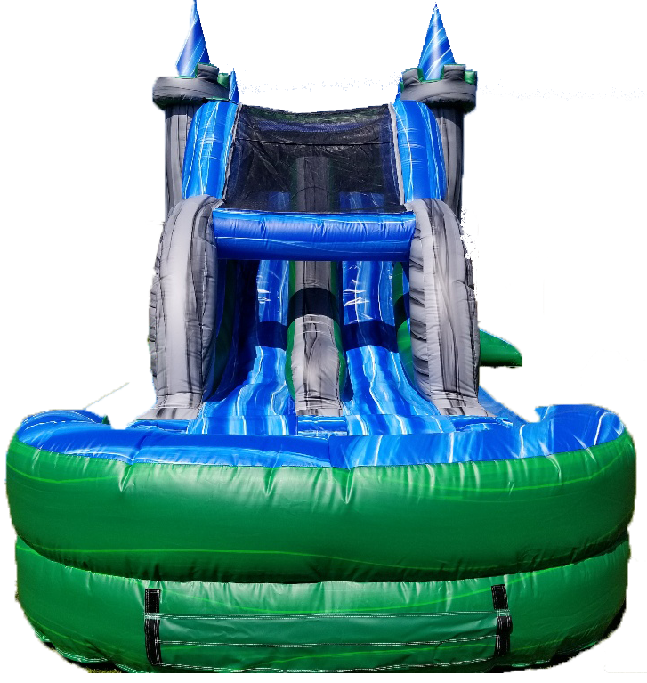 Emerald Castle Water Slide Combo slide view